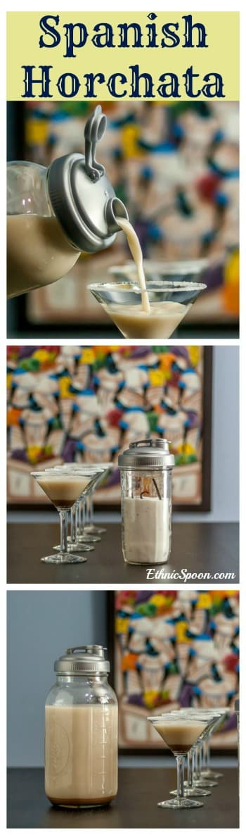 Spanish horchata recipe which is popular throughout Latin America. Made with almonds, rice, milk & cinnamon.