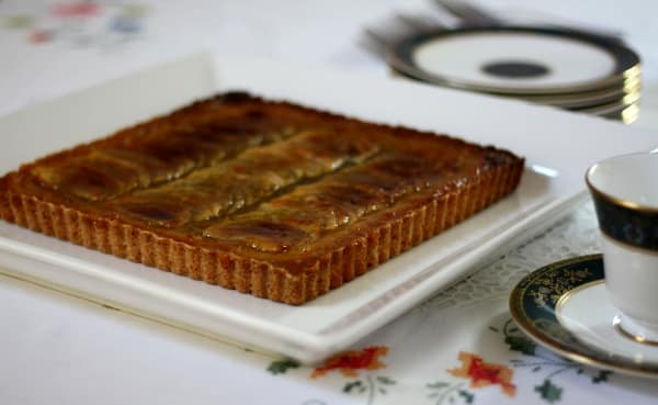 tarte aux pommes French apple tart baked