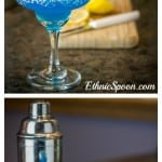 Blue Margarita recipe with lemons, tequila and blue curacao | ethnicspoon.com