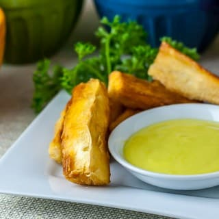 aioli with fried yuca