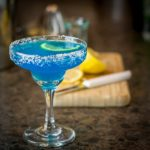 Fresh lemon juice, blue caracao and tequila make a great margarita! | ethnicspoon.com
