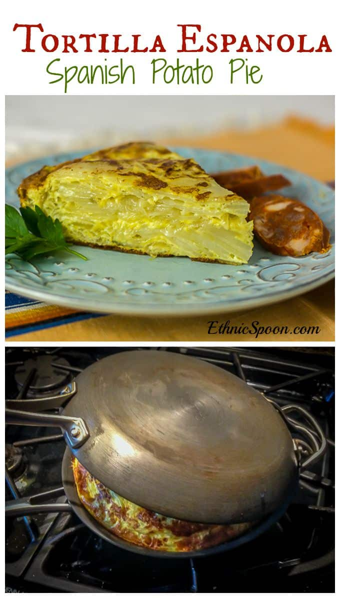 Tortilla Epanola - Spanish Potato Pie | ethnicspoon.com