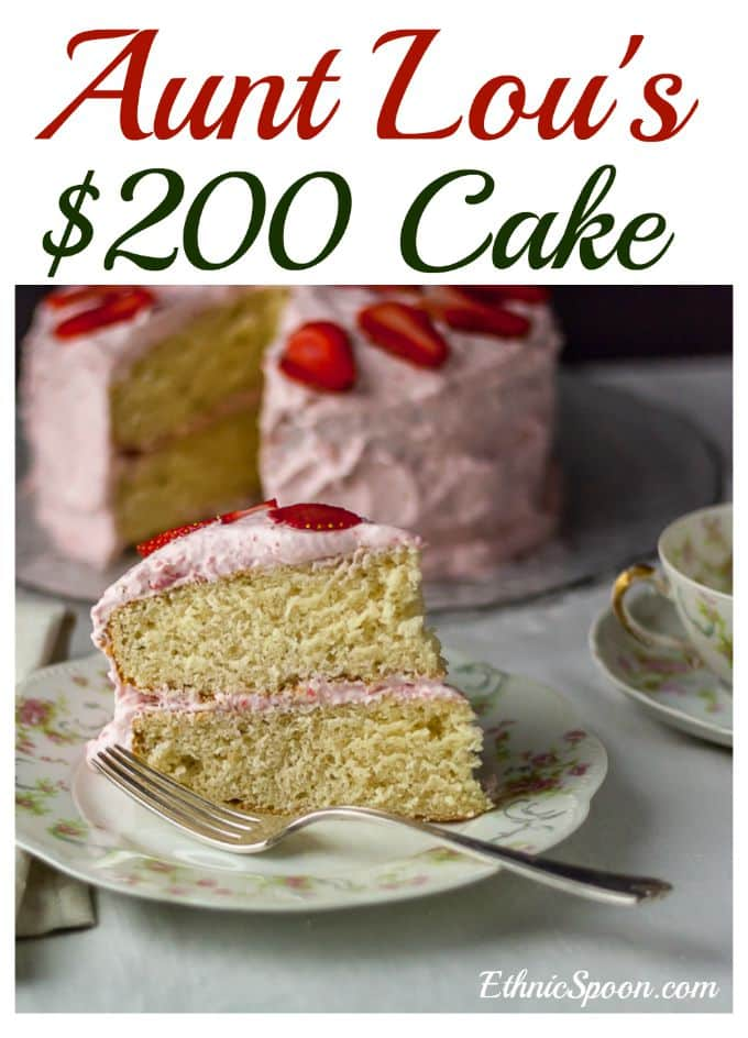 A 100+ year old recipe from Aunt Lou. $200 Cake recipe is a delicious old fashioned or vintage cake recipe, from scratch of course.
