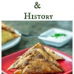 An easy recipe for samosas made with won-ton wrappers and the food history of samosas. | ethnicspoon.com