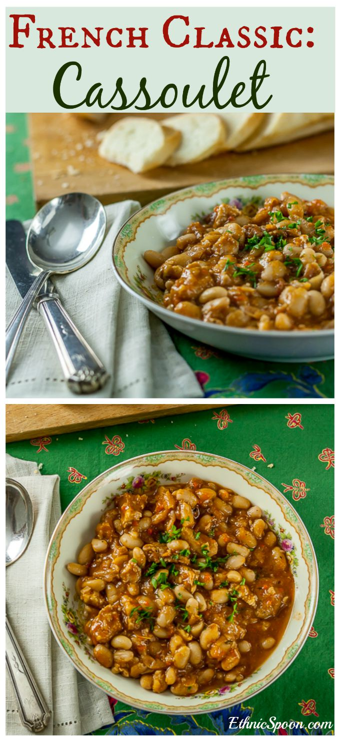 Cassoulet - A rustic and aromatic hearty recipe for French bean stew. | ethnicspoon.com