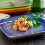 Gambas en cebolla Spanish Tapa with shrimp and onions | ethnicspoon.com