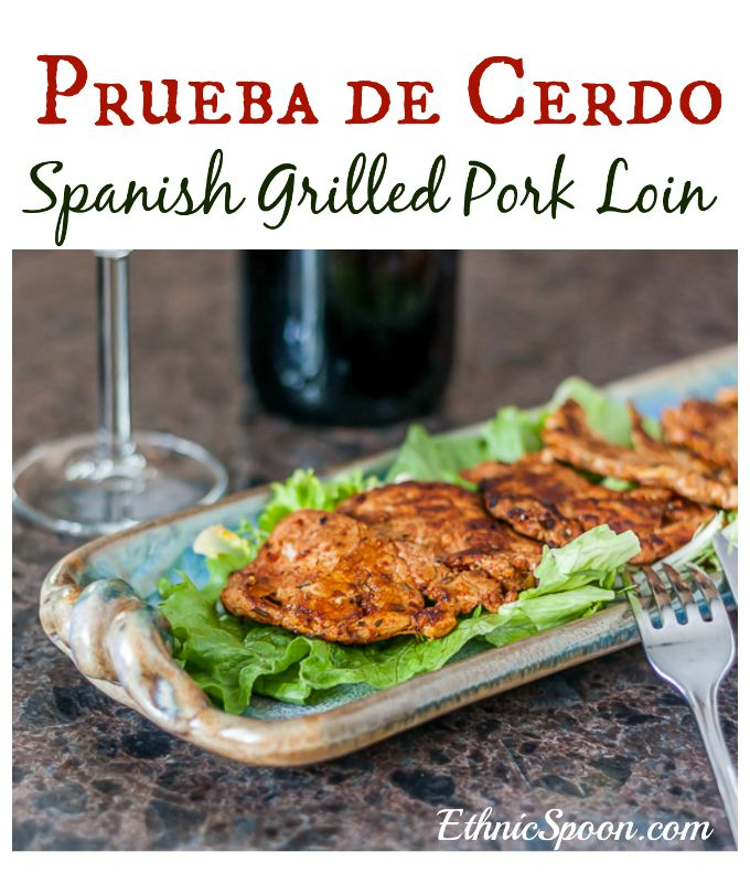 Prueba de Cerdo or Spanish style grilled marinated pork. Has a little kick but not overwhelming. It's the paprika that gives it the brilliant color. | ethnicspoon.com