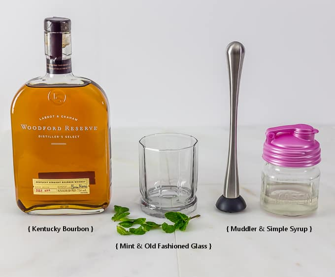 Mint Julep ingredients Kentucky Derby style | Ethnicspoon.com