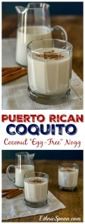 "Puerto Rican style ""egg-free"" egg nogg with coconut milk and rum. 