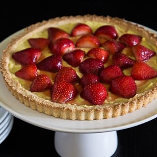 Strawberry Tart with Vanilla Custard