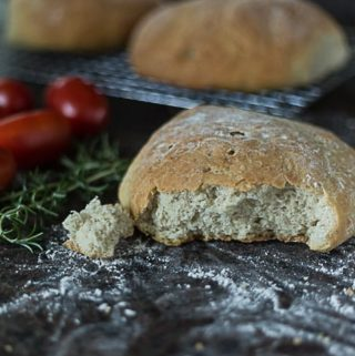 Easy Moroccan country bread. A quick rise and bake bread. | ethnicspoon.com