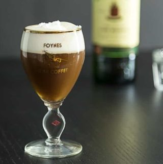 Irish coffee in the original recipe glass from Foynes, Ireland |ethnicspoon.com