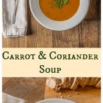 Irish inspired carrot coriander soup with a nice crusty bread plus the history of carrots throught the ages. | ethnicspoon.com