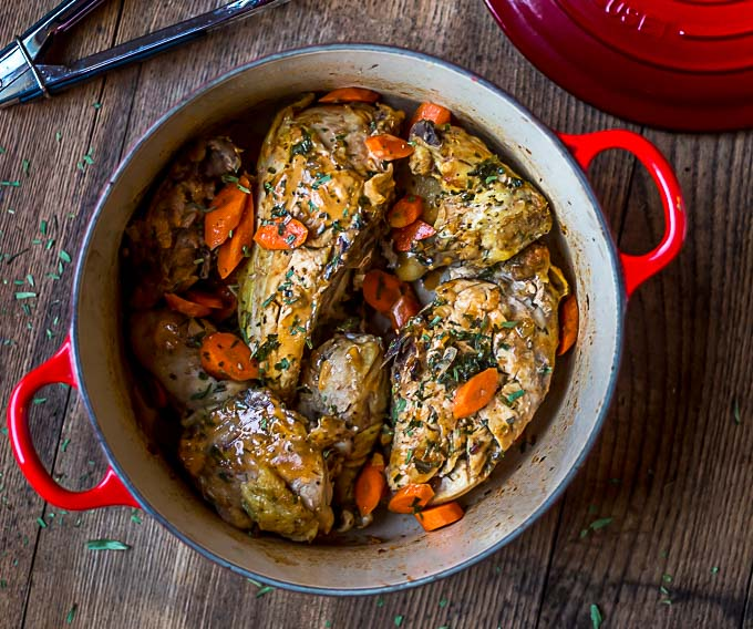 Chicken Tarragon, a classic French Provencal meal|ethnicspoon.com