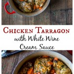 A classic French dish with a whole roaster chicken and a creamy white wine sauce. | ethnicspoon.com