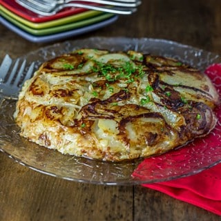 Frico – Italian Parmesan, Onions and Potato