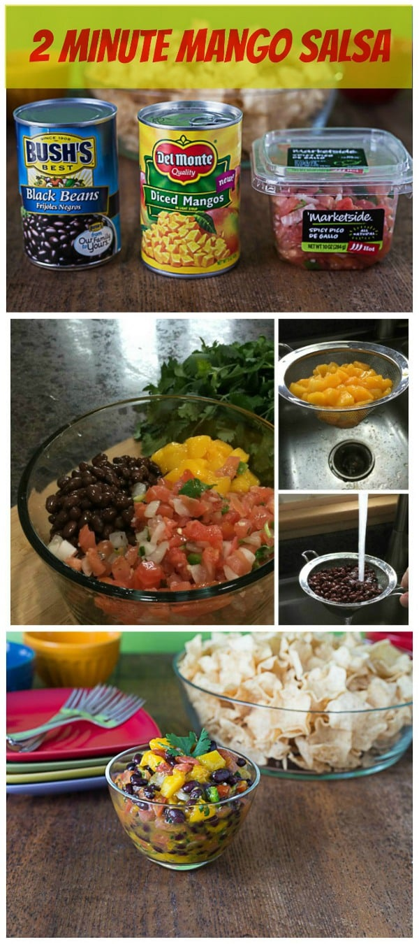 Super quick and easy 2 minute mango pico de gallo recipe | ethnicspoon.com