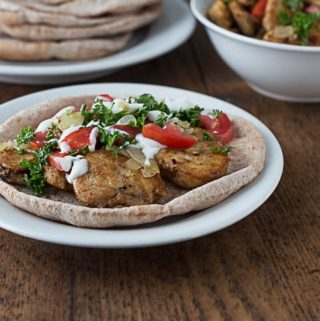 Easy (non-grilled) Chicken Shawarma Recpe | ethnicspoon.com