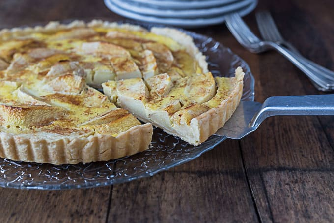 Tarte Normande: A French apple tart with custard. |ethnicspoon.com