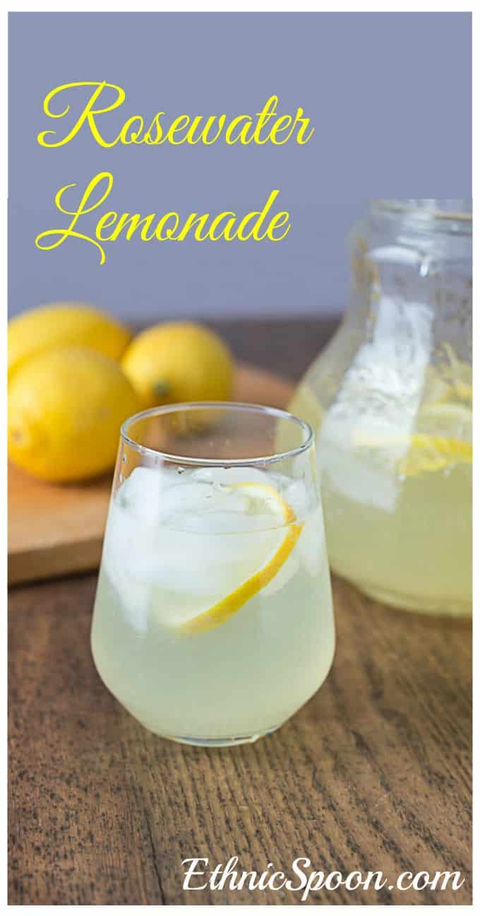 Rosewater lemonade recipe and history. | ethnicspoon.com