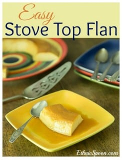 Easy stove top or no-bake flan a Latin American custard | ethnicspoon.com