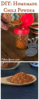 A very easy recipe to make your own chili powder blend and the food history behind the popular seasoning. | ethnicspoon.com