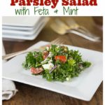 Mediterranean parsley salad with feta and mint | ethnicspoon.com