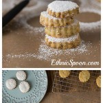 Middle Eastern style shortbread cookies with pistachios and rosewater. | ethnicspoon.com