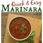 A really quick and easy marinara sauce recipe. | ethnicspoon.com
