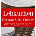 Like spice cookies? You will love these traditional German Christmas Lebkuchen cookies with and interesting history and recipe. | ethnicspoon.com