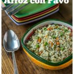 Latin style leftover turkey: Add some latin flair to your holiday leftovers with some arroz con pavo. | ethnicspoon.com