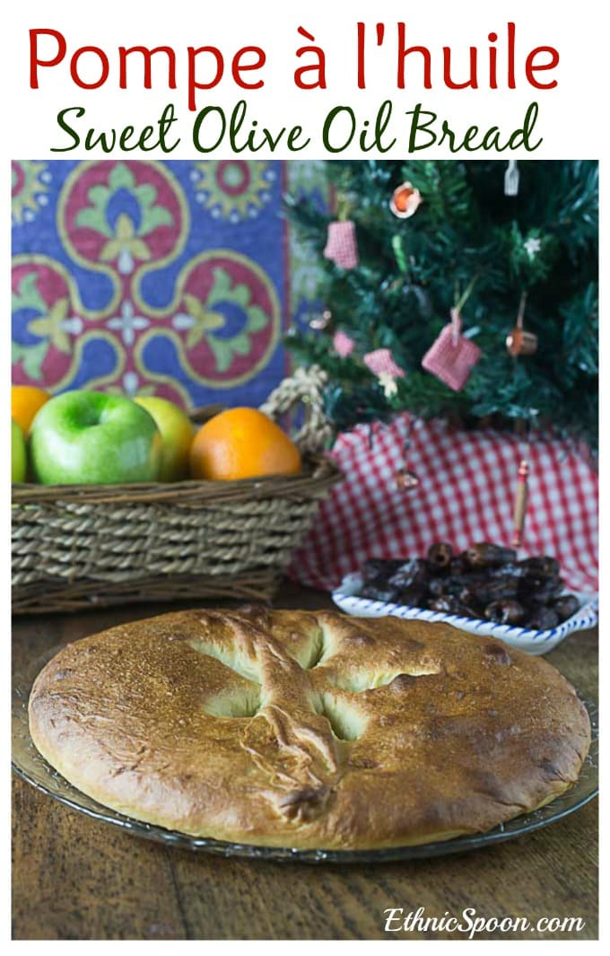 French sweet olive oil bread or pompe à l'huile is traditionally served as part for the 13 dessests and symbolic of the bread at the last supper. | ethnicspoon.com