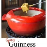 Easy cheesy Guiness cheddar fondue is one of my all time favorites! We tak this to parties, (yes with the pot and some sterno or a slow cooker) or even sit down to a family meal with some salad and fresh fruit on the side! A rich hearty cheese with a nutty stout flavor and some cayenne kick! | ethnicspon.com