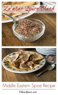 Zatar or Za'atar is exotic flavored spice blend of sumac, thyme, oregano, sesame seed, salt and nutmeg. This is so simple to make and it fabulous infused in olive oil, meats and dips. Have you been to a Middle Eatern restaurant that serves a spiced dipping oil? It was probably was Za'atar | ethnicspoon.com