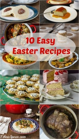 10 of my favorite old family and ethnic Easter recipes. Main dishes and desserts. Mix up your holiday with some French lamb or Middle Eastern cookies! A 100+ year old cake recipe or lemon tartlets. | ethnicspoon.com