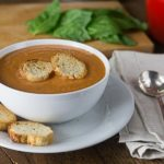 My all time favorite tomato soup! Tomato basil bisque is rich and creamy! If you like tomato soup you will love this soup. | ethnicspoon.com