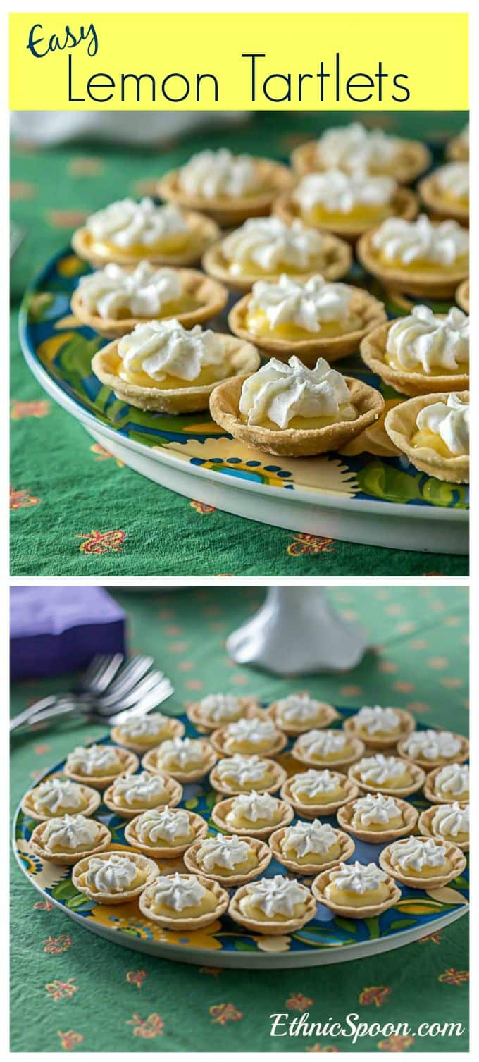 If you love lemon you will love these! A super easy lemon tartlet recipe made with fresh lemon curd.| ethnicspoon.com