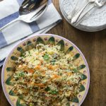 Try a Turkish style couscous salad with dates, apricots and pistachios. This is a great summer dish served cold topped with some yogurt. A nice combination of sweet and savory. | ethnicspoon.com