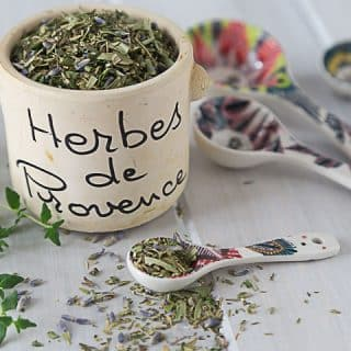 "Make your own herbs de provence or ""herbes de provence"" for my French friends. A fabulous aromatic blend of herbs and you can make your own custom blend like I do. I prefer oregano, parsley, thyme, tarragon and lavender. You can also add savory and marjoram too. 