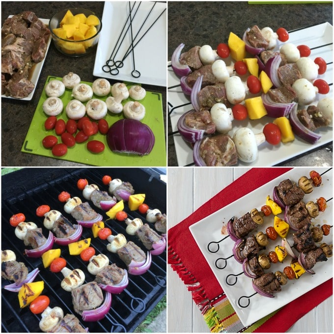 How to assemble beef kebabs, step by step
