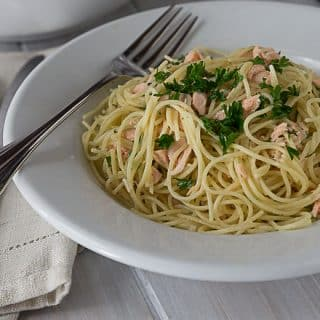 Creamy Salmon and Dill Angel Hair Pasta