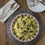 Saffron Rice with Dried Cranberries and Almonds