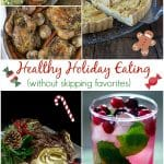 Eating healthy through the holidays means enjoying all your favorite foods but watching portions and not eating until feel completely full, just satisfied. Try adding some heathy recipeS to the mix too! | ethnicspoon.com