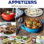 10 terrific Super Bowl appetizers to spice up your gameday! Try these spicy kofta kari meatballs, chicken in puff pastry, Guinness and cheddar fondue, mango tomatillo salsa, Thai style chicken wings, mini beef empanadas, shrimp ceviche, spicy Turkish ezme salsa, turkey burger soup & pork carnitas tacos. Add an ethnic twist to your party! | ethinicspoon.com