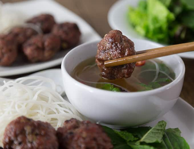 Bun Cha: Vietnamese Pork Meatballs - Analida's Ethnic Spoon