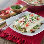 Easy Chicken Enchiladas with Jalapeno White Sauce