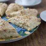Like scones? You will love these! Everything's better with bacon but how about bacon scones with maple glaze? You are going to love these cheesy bacon scones. These have Gruyere, fresh thyme, bacon and the sweet maple glaze for a nice savory and sweet combination. | ethnicspoon.com