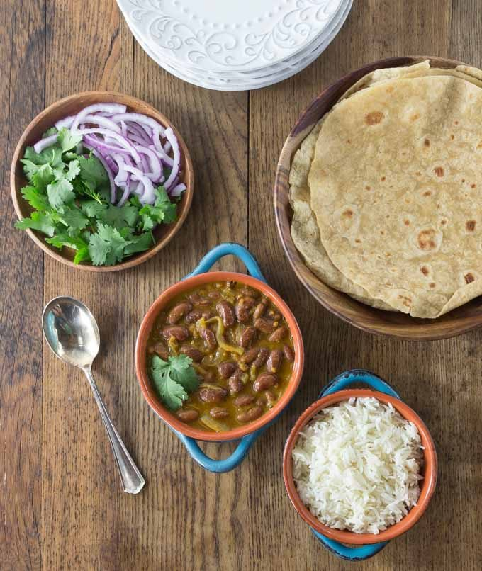 Try a spicy Indian vegan dish of rajma from Saffron Fix. This has a nice exotic blend of flavors. | ethnicspoon.com