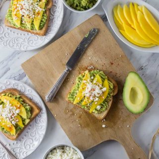 Avocado, Mango, Queso Fresco Toast Recipe