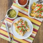 Like Mexican food? You will love the flautas! I like to drop my Mexican three cheese flautas in a hot pan with a little oil to give them a nice color and then I bake them with salsa verde and some queso fresco on top. I love Mexican food! This recipe is so easy to make too! | ethnicspoon.com